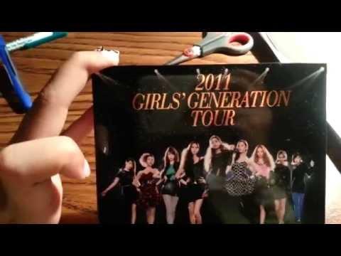 SNSD 2011 GIRLS' GENERATION TOUR Album Unboxing