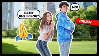 My Crush Says YES To ME For 24 HOURS CHALLENGE **WILL YOU BE MY BOYFRIEND?** 🌹❤️|Sophie Fergi