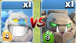 Dark Golem vs. Ice Golem!!