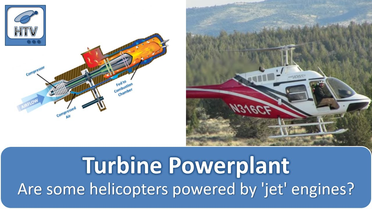 Turbine or Turboshaft Powerplant - Helicopter Components - YouTube