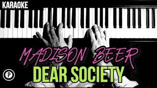 madison Beer - Dear Society Karaoke Piano Chords Cover Instrumental Lyrics