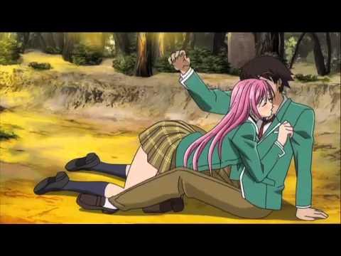 Rosario + Vampire Funimation English Dub Clip - Bike Scene - Meet Moka!