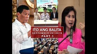 UNTV: Ito Ang Balita (September 20, 2018) Part 1