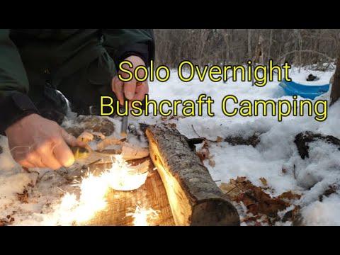 Solo Overnight Bushcraft camping