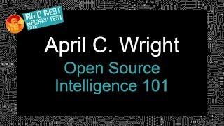 Open Source Intelligence 101