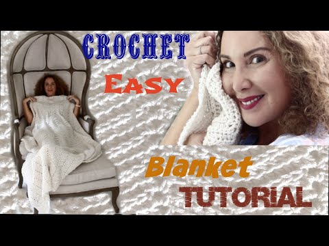 Easy Ripple Stitch Crochet blanket Tutorial