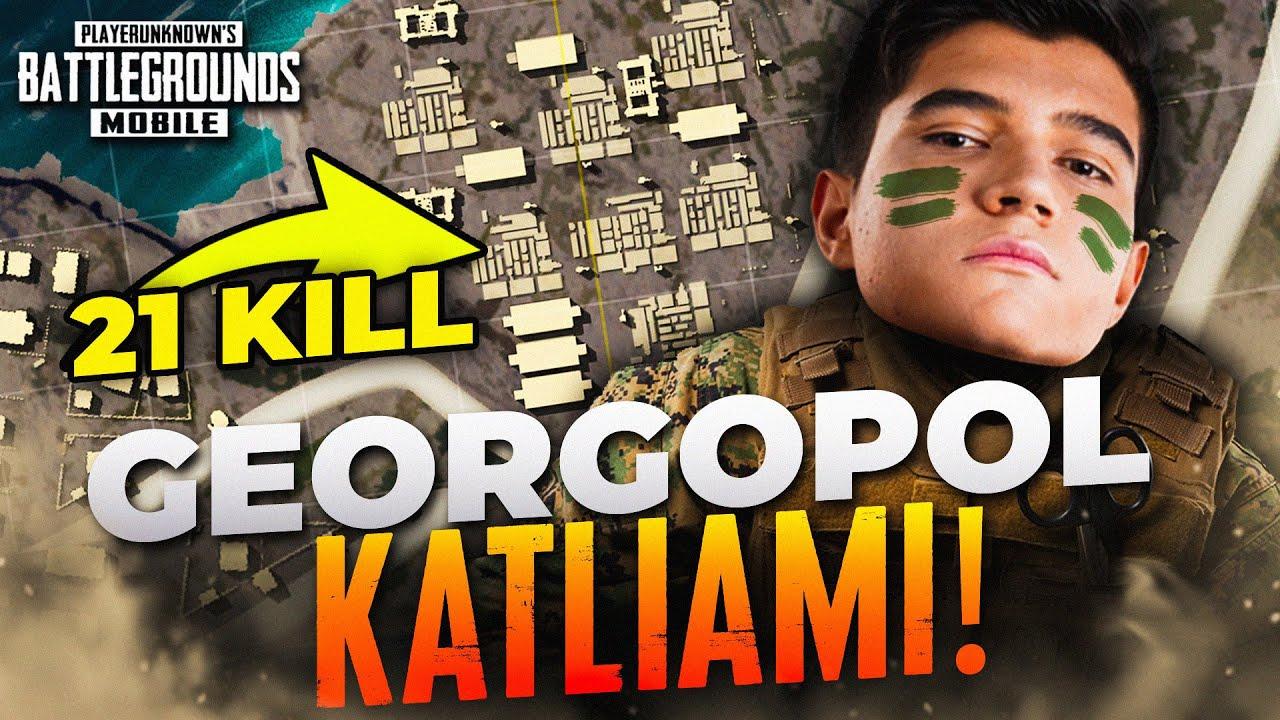 SADECE GEORGOPOL DA 21 KILL ALDIM!! (Zorlu Mod) | PUBG Mobile Erangel Gameplay