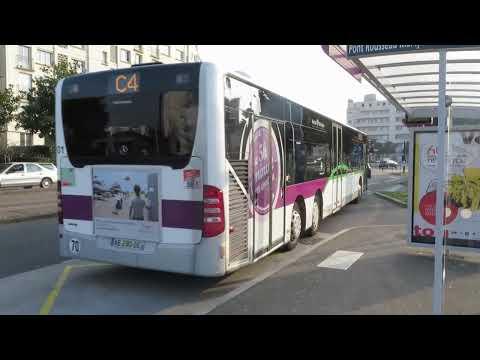 A bord du Citaro L Facelift n� sur la ligne C4 du réseau TAN de Nantes