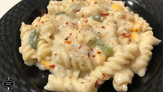 White sauce pasta | Creamy and cheesy white sauce pasta | How to creamy make white sauce for pasta