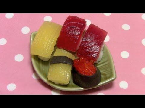 Make Candy Sushi at Home ~ たのしいおすしやさん