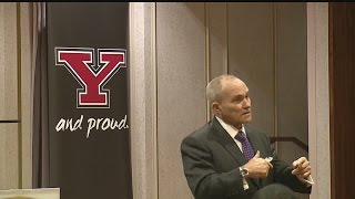 Former NYPD commissioner gives tips to YSU's police cadets