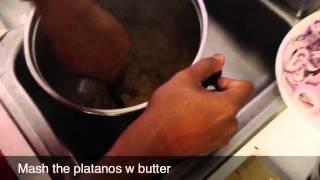 How to Make Dominican Mangu - iPhone movie