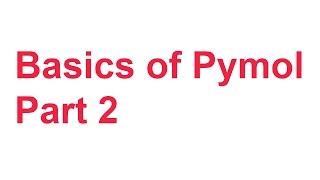 tutorial 5 basics of pymol part 2 measuring tool polar contacts mutagenesis