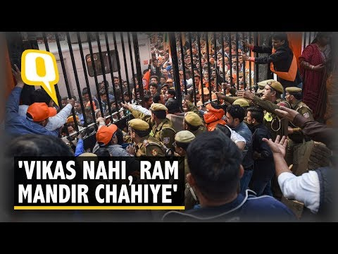 Want Ram Mandir, Not Development: Supporters at VHP's Delhi Rally | The Quint