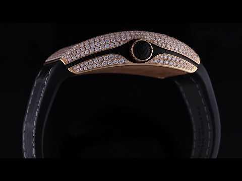Franck Muller Encrypto Gold With Diamonds Case Bitcoin Watch