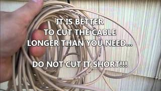 New telephone line wire run from outside service box to inside, repair landline, THE TRUTH, CAT3