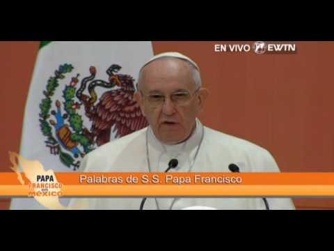 Discurso del Papa Francisco en el Palacio Nacional de México