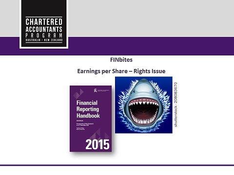 FINBites: Earnings Per Share - Rights Issue