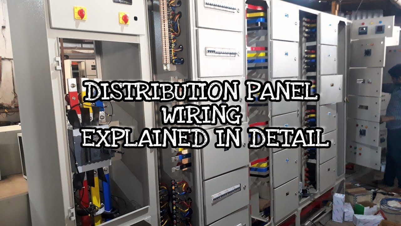 small resolution of switchgear main lt distribution panel making and wiring step by step electrical panels