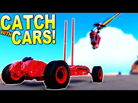 The Hardest Game of CATCH Involves Cars and Catapults! - Trailmakers Multiplayer |