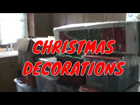 GETTING DOWN THE CHRISTMAS DECORATIONS