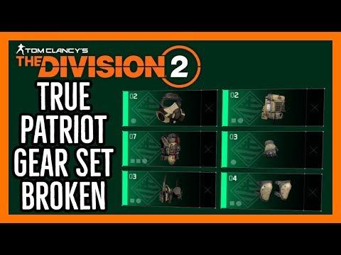 The Division 2: True Patriot Gear Set Broken