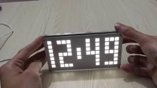 DIY DS3231 Touch Key Control Brightness Adjustable Big Size Dot Matrix Alarm Clock Kit