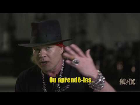 Axl Rose fala sobre cantar as músicas do AC/DC – Legendas PT-BR