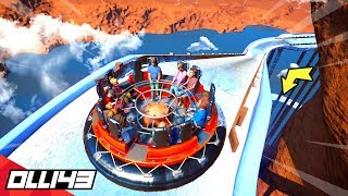 Planet Coaster - Building a Sky High Water Rapids Ride in Area 43..