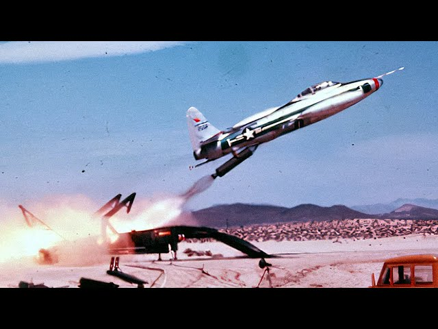 F-84 Taking Off from the Back of a Truck