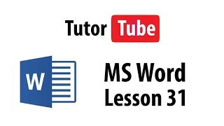 MS Word Tutorial - Lesson 31 - Formatting Lists