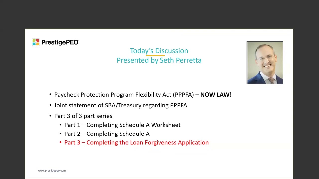 Completing the PPP Forgiveness Loan Application Part III ...