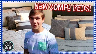 boys rooms are done new comfy comforters moving vlog day 10