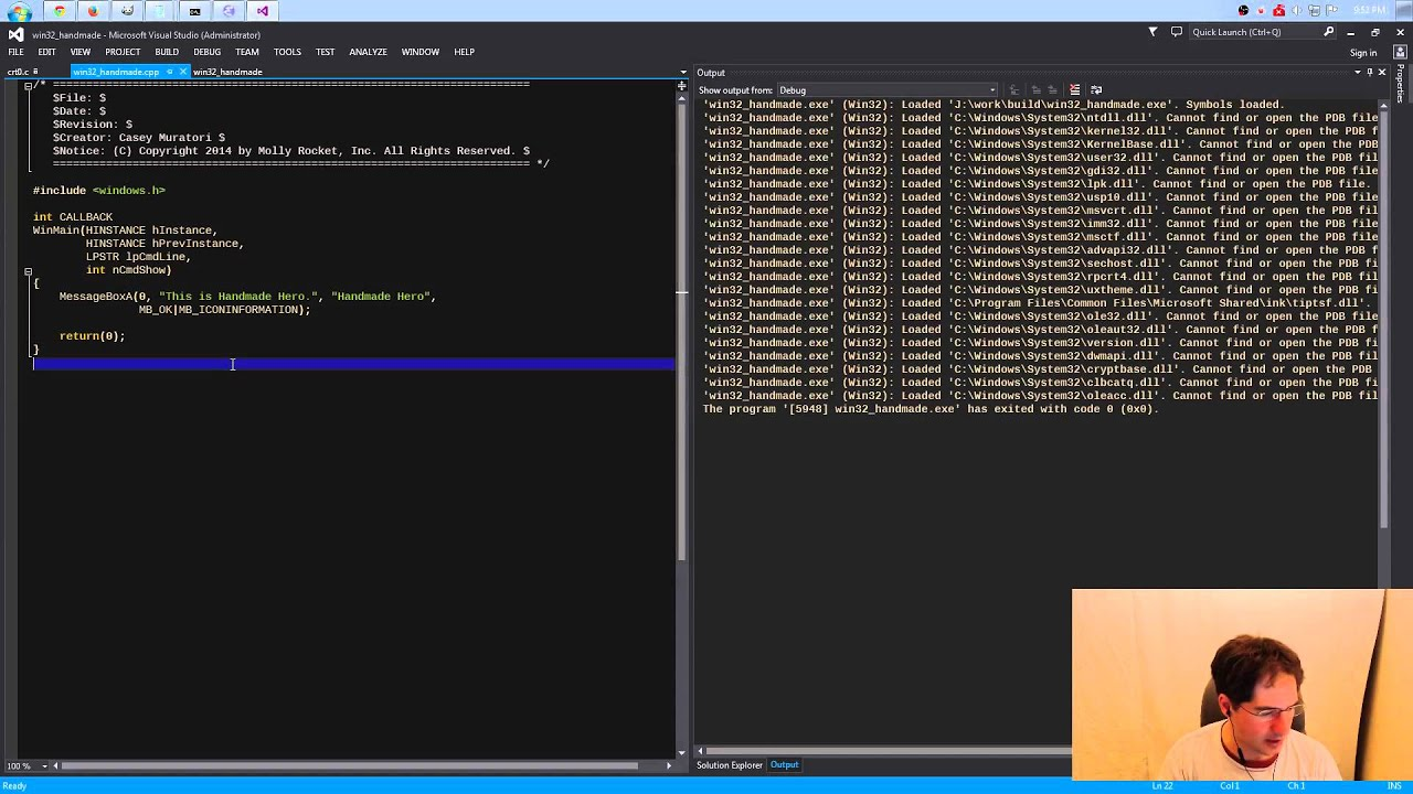 Setting Up The Windows Build Q A Handmade Hero Episode Guide Handmade Hero
