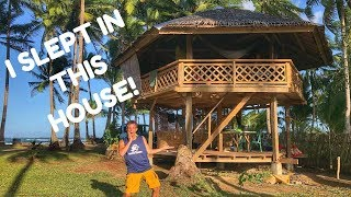 Amazing Wooden HOUSE In The PHILIPPINES (Fighter Boys??)
