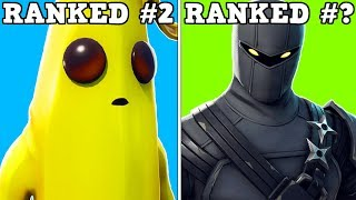 RANKING EVERY SEASON 8 BATTLE PASS SKIN FROM WORST TO BEST! (Fortnite Battle Royale!)
