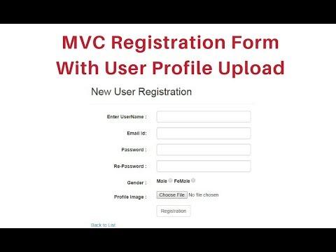 mvc registration form with database upload profile image asp net c# 4 6