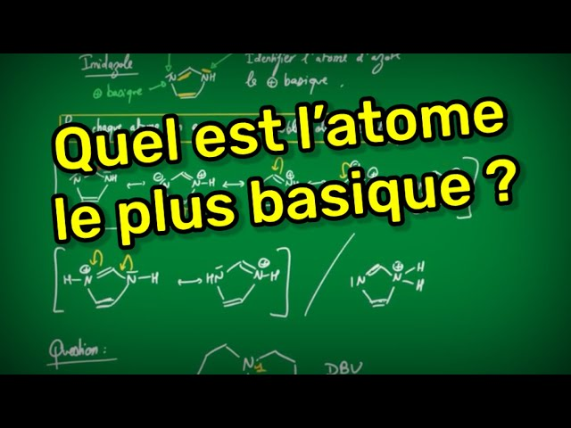 Quel est l'atome le plus basique ? Un cas subtile.