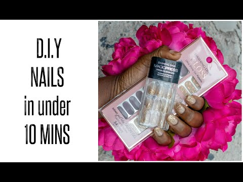 OMG!!!...EASY SALON NAILS At HOME- Feat.DASHING DIVA- #AD