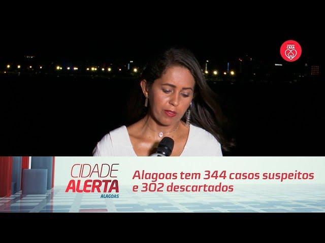 Coronavírus: Alagoas tem 344 casos suspeitos e 302 descartados