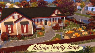 AUTUMN / FALL FAMILY HOME | [No CC] Sims 4 Speed Build