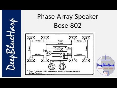 phase array speaker bose 802 youtube rh youtube com Wiring 6 8 Ohm Speakers Crutchfield Speaker Wiring Diagram