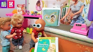 МАКС МИСТЕР ПАМПЕРС! КАТЯ И МАКС ВЕСЕЛАЯ СЕМЕЙКА. #Мультик про кукол #Барби