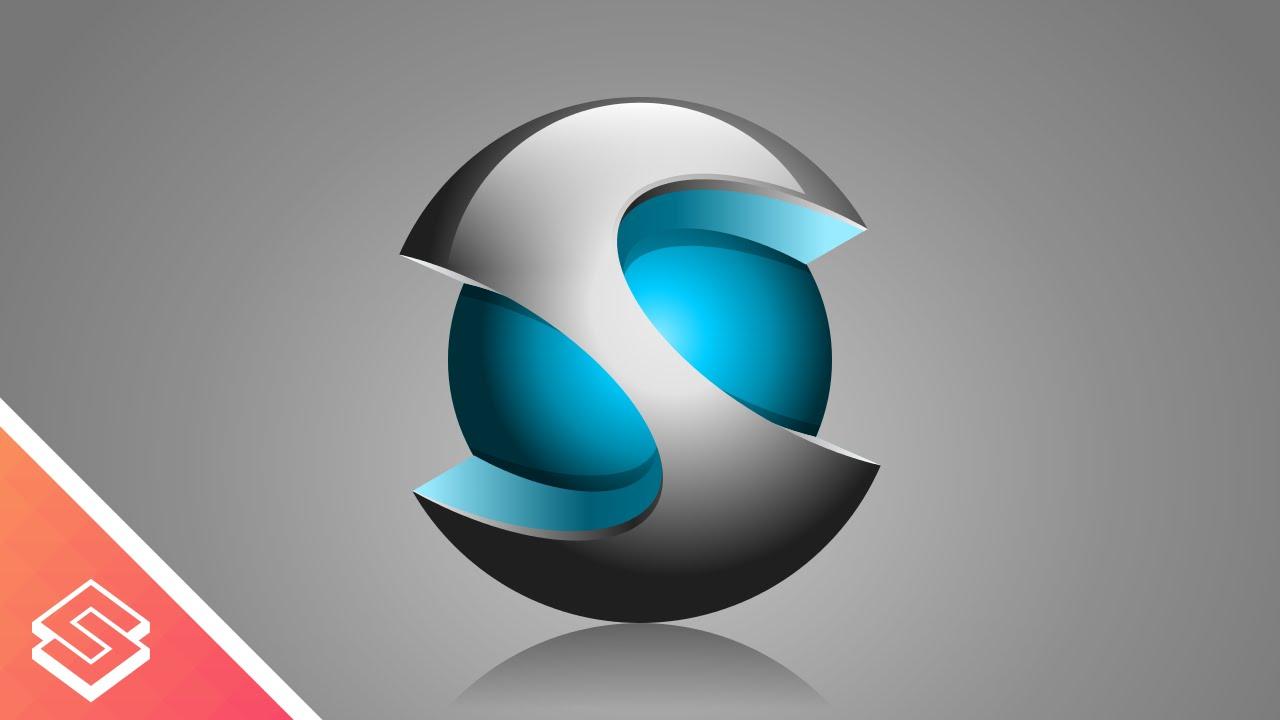 Inkscape Tutorial: 3D Vector Sphere Icon/Logo