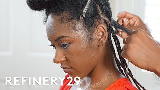 8 Hour Tribal Fulani Cornrows | Hair Me Out | Refinery29
