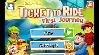 DGA Plays: Ticket to Ride: First Journey (Ep. 1 - Gameplay / Let's Play)