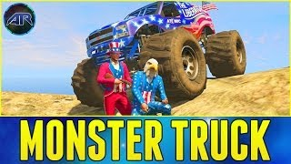 GTA 5 Online : MONSTER TRUCK OFFROADING & MUDDING!!! (The Liberator)
