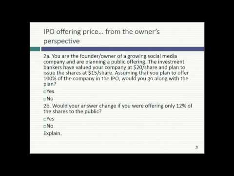 Session 21: IPO and VC Valuation & First Steps on Real Optio