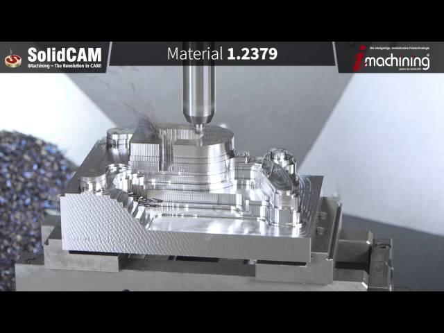 Fertigung eines 3D Formteils mit iMachining
