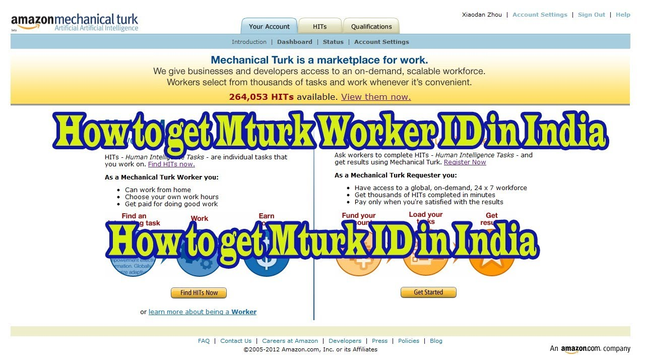 How to get Mturk Worker ID in India